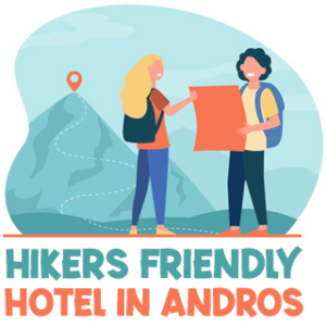 Hiking friendly hotel in Andros